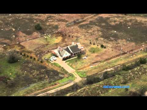 Raw Video: Aerial view of tornado damage in Midlothian and Ovilla