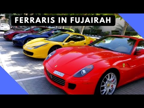 Dubai to Fujairah Road trip - The most Ferraris you have ever seen!