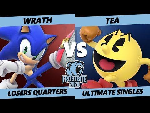 Frostbite 2020 SSBU Losers Quarters - Wrath (Sonic) Vs. SG8 | Tea (Pac-Man) Smash Ultimate Singles
