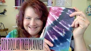 Dollar Tree DIY Fauxdori Travelers Notebook Tie Dye Planner