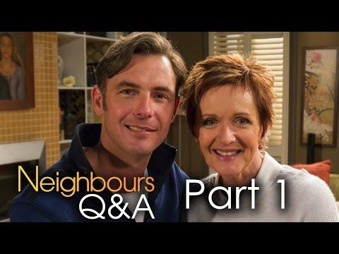Benji McNair Mal and Jackie Woodburne Susan  Neighbours Q&A