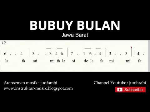 Not Angka Bubuy Bulan - Lagu Daerah Tradisional Nusantara Indonesia - Doremifa