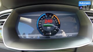 2015 Tesla Model S P85 D (700hp) - 0-240 km/h acceleration (60fps)(INSANEly Fast Autobahn acceleration test with the new Tesla Model S P85 D delivering a mind-blowing 700 hp and around 900 Nm of torque, at a standstill!, 2015-05-24T07:25:55.000Z)