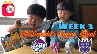 McDonalds Week 3 Happy Meal Toys Megatron & Starlight Glimmer