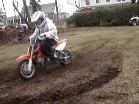Fun on a Honda 50cc Dirtbike - YouTube