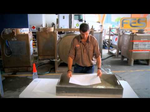 Oil Spill Absorbent Pads - Product Demonstration