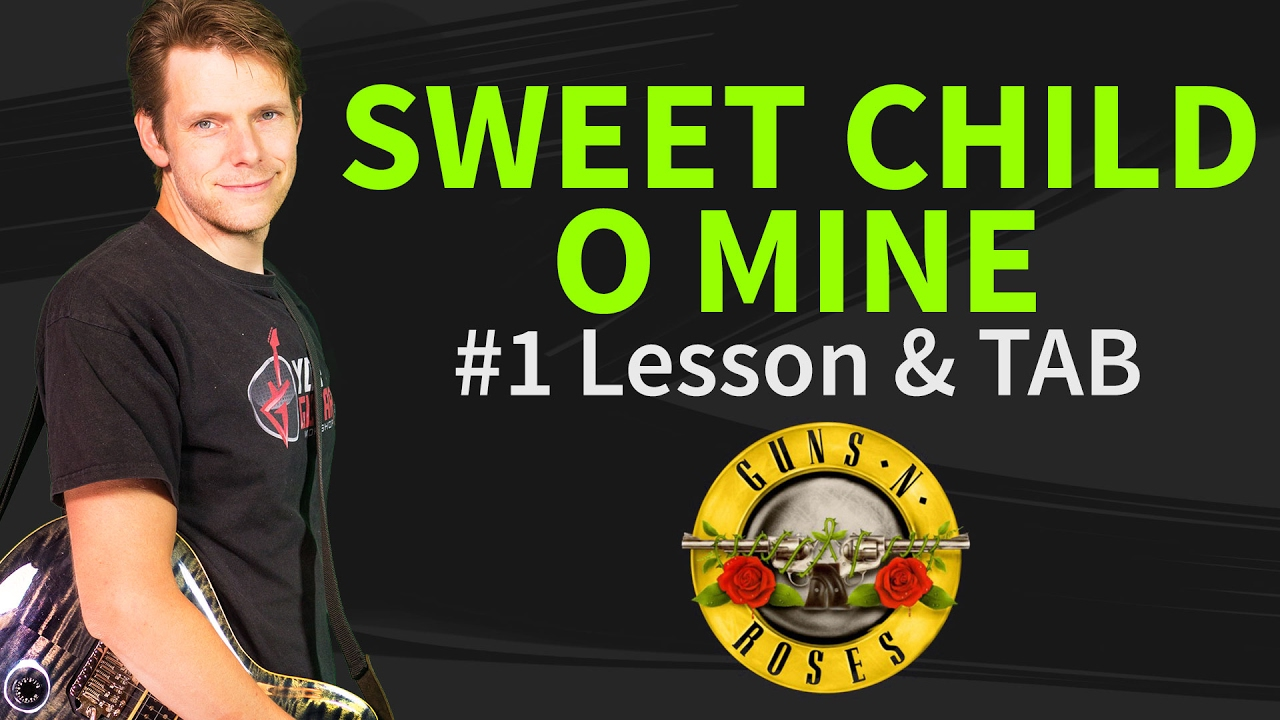 how to play sweet child o 39 mine guitar lesson tab 1 guns n 39 roses youtube. Black Bedroom Furniture Sets. Home Design Ideas
