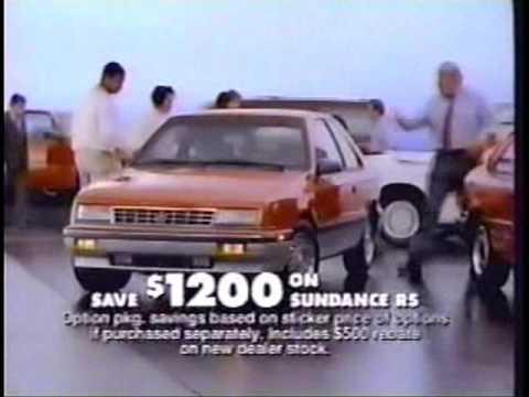 1991 Chrysler-Plymouth commercial w/John Madden