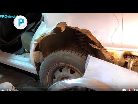 """Audi 80 B3 - кузовной ремонт """"бочки"""" - 7 серия - переварка арок"""