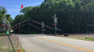 Amtrak Train Spotting at Miner Lane Railroad Crossing in Waterford, CT