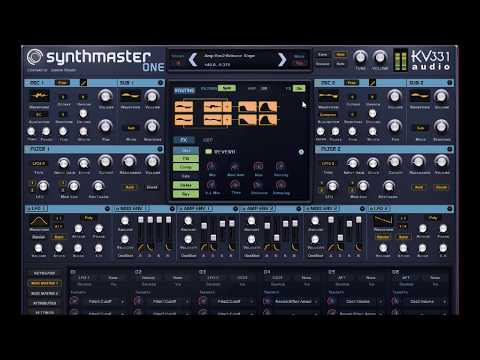 SYNTHMASTER ONE by KV331 Audio The BIG Soundtest Demo