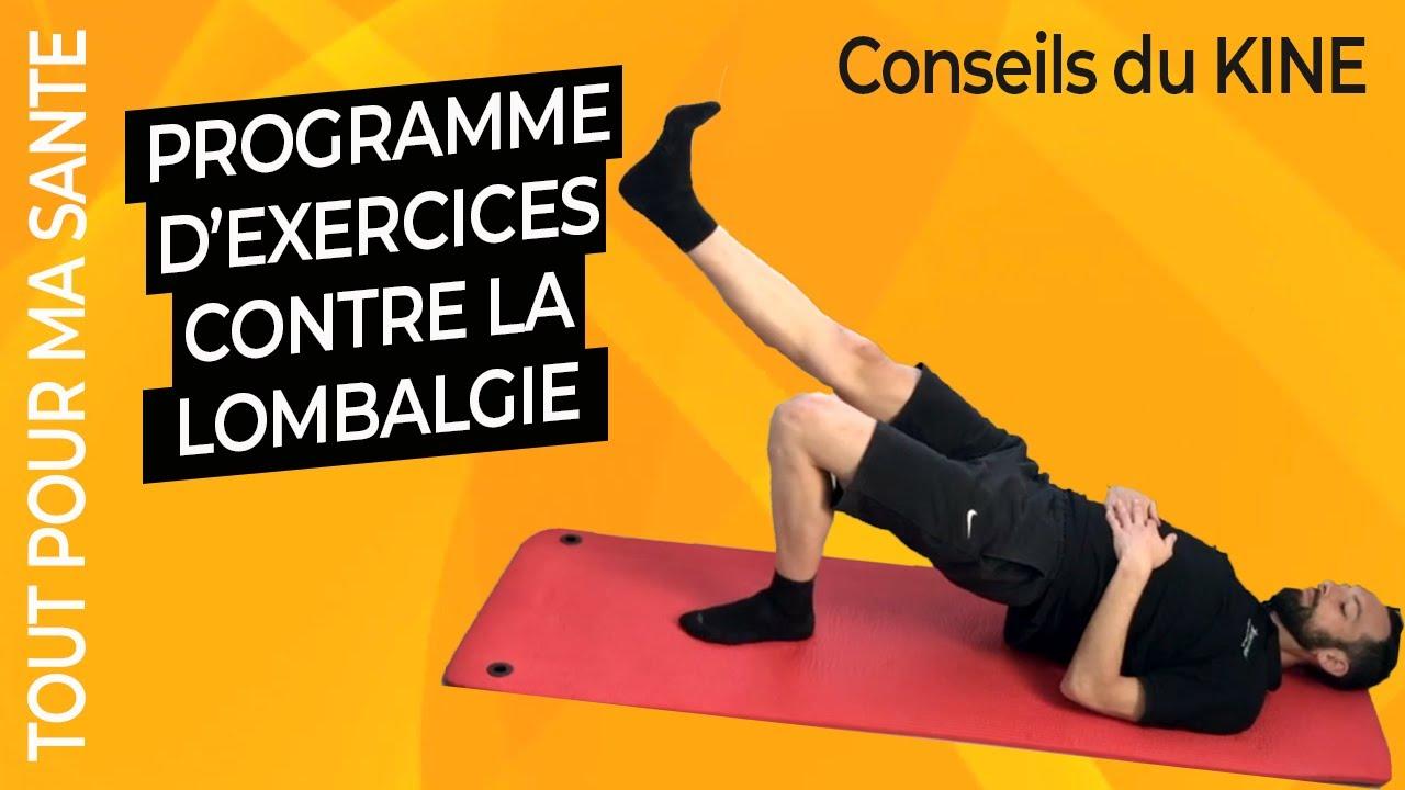 Lombalgie 8 Exercices Kine Youtube