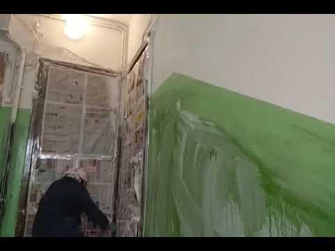 Красим стены по побелке. УК Строй-Сервис-Э.