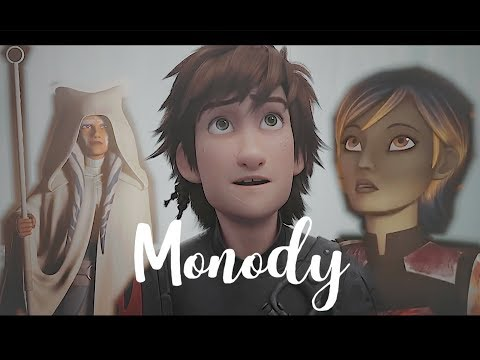【Monody】 | | HTTYD and STAR WARS | | 200 subscribers special | Ahsoka, Sabine, Astrid, and Hiccup.