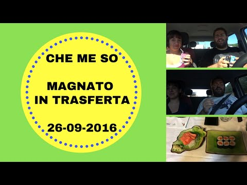 CHE ME SO MAGNATO IN TRASFERTA (WHAT I EAT IN A DAY) - 26-09-2016
