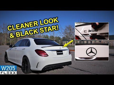 How to debadge and install BLACK STAR Mercedes Trunk Emblem
