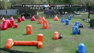 2013 NCPA College Paintball Champs Prelims - Liberty vs. Florida Gulf Coast