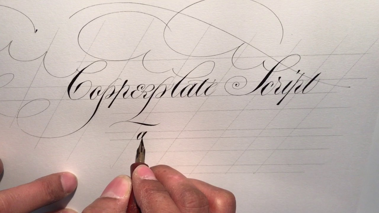 A new manual on copperplate script youtube