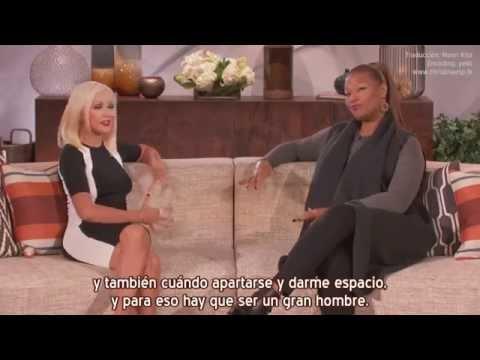 Christina Aguilera - Hablando de Matt Rutler en el show de Queen Latifah (Subtítulos español)