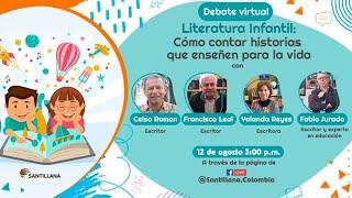 """#EnVivo Encuentro Virtual """"Literatura Infantil: Cómo contar historias que enseñen para la vida""""."""