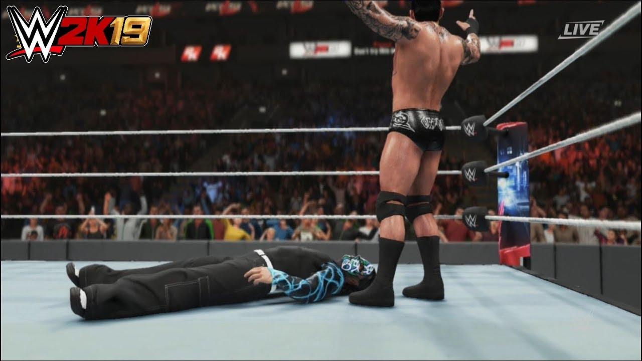 WWE 2K19 - Jeff Hardy vs. Randy Orton: U.S. Championship | Backlash (2018)