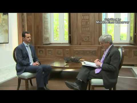 Syrian President Bashar Al-Assad Interview With US Reporter