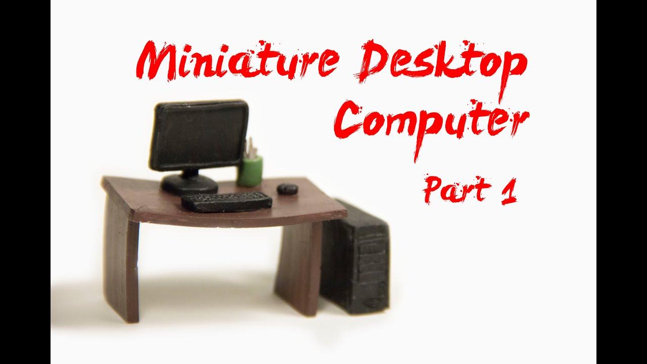 How To Make Miniature Desktop Computer Part 1 Polymer Clay Tutorials You