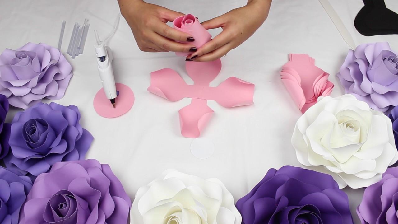 Diy Rose Tutorial Medium Size Rose Youtube