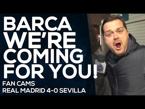 Messi, Suarez and Neymar watch your back! |Real Madrid 4-0 Sevilla | FAN CAMS