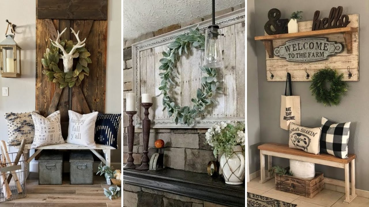 Diy Farmhouse Style Shelving And Wall Decor Ideas Home