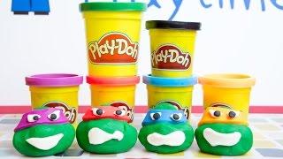 Ninja Turtles Play Doh - Leonardo, Donatello, Michelangelo, Raphael Heads