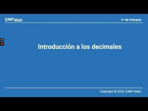5. Unidad 6. Introducción a los decimales