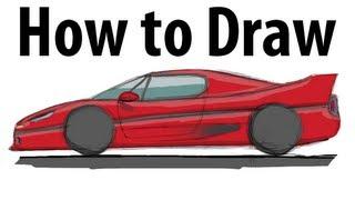 How to draw a Ferrari F50 - Sketch it quick!