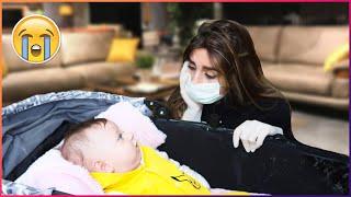 ننوش التقت مع البيبي ميرو بعد غياب 12 يوم عنها بسبب إصابتها بالكورونا (مؤثر😭)