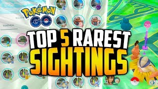 Pokemon Go - TOP 5 RAREST Pokemon GO Sightings! (INSANE WEATHER BOOSTED SPAWNS!)