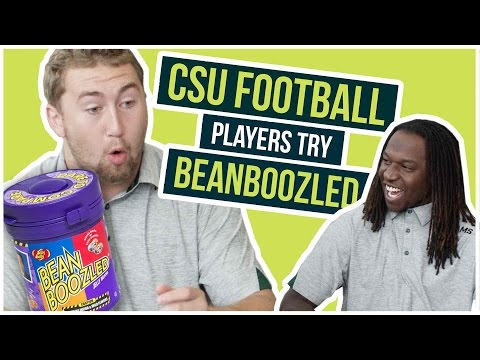CSU Football Players Try BeanBoozled