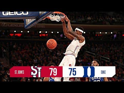 Highlights: ST. JOHN'S UPSETS NO. 4 DUKE (Feb. 3, 2018)