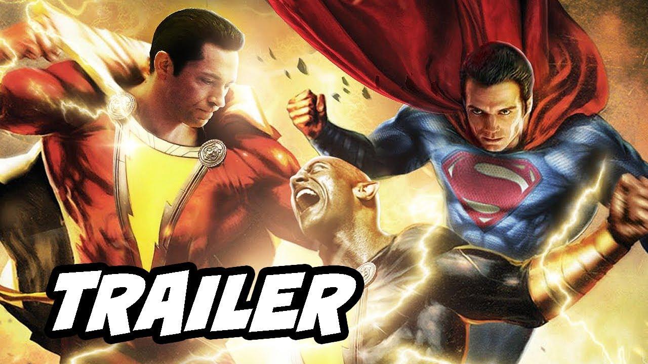 Shazam Trailer - Superman Black Adam Post Credit Scene Theory Breakdown