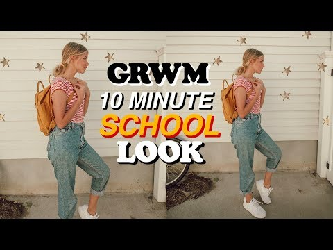 10 MINUTE Look For School (Makeup, Hair + Outfit)
