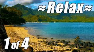 RELAXATION VIDEO #1 HD KAUAI Best Beaches wave sounds relaxing Ocean Waves Sleep bedtime lullaby