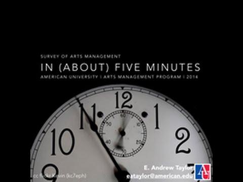 Five-Minute Survey of Arts Management