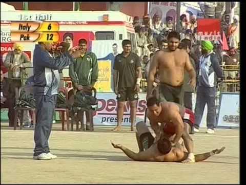 kabaddi world cup 2012 pakistan vs italy