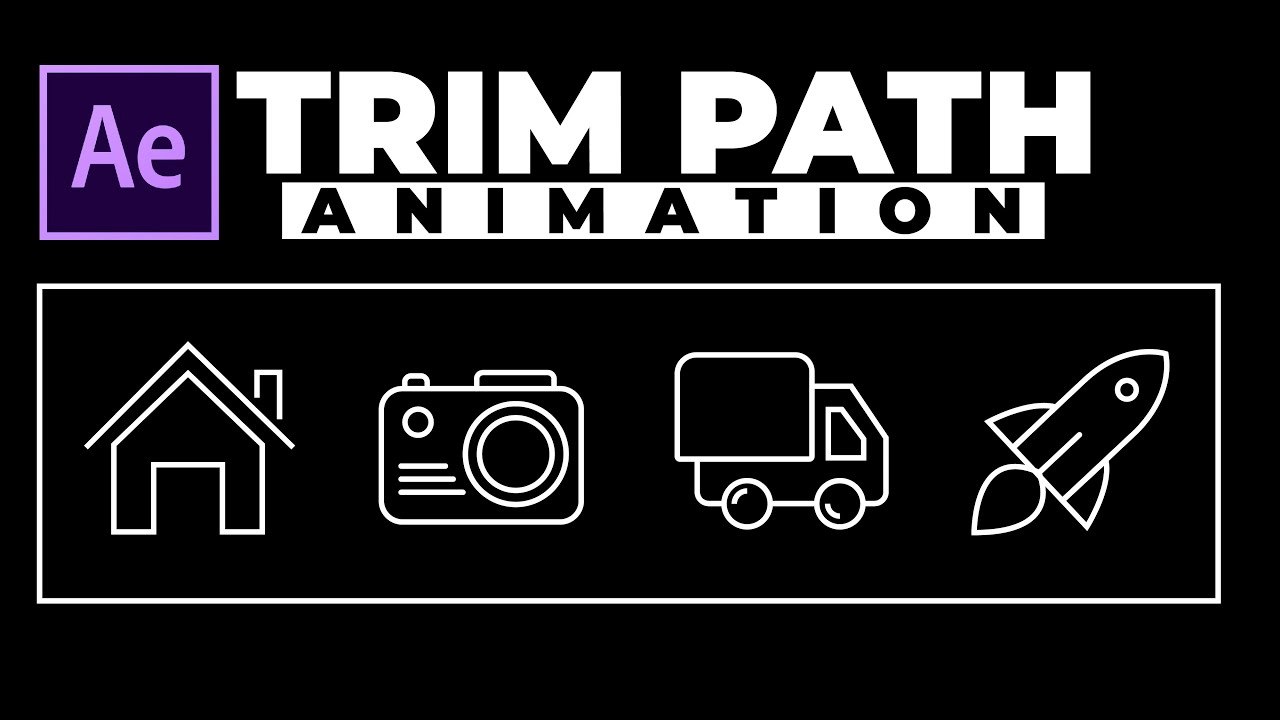 Trim Path Animation - After Effects Tutorial