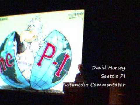 Seattle PI Party Presentation By David Horsey Multimedia Commentator
