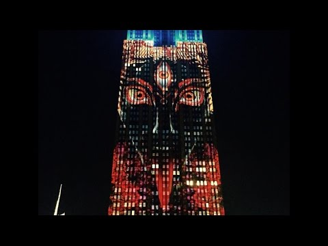 """Bizarre Images of """"Satan"""" Appear on Empire State Building"""