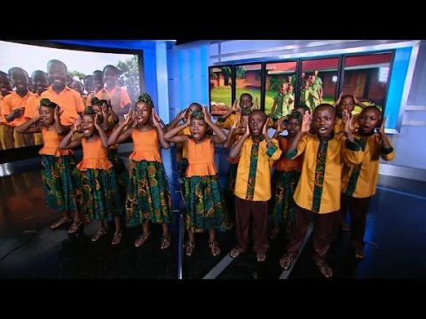 African Children's Choir from Uganda performs at CNN