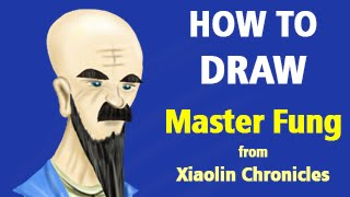 How to Draw Master Fung from Xiaolin Chronicles [Speed Painting]