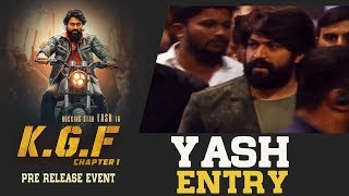 Rocking Star Yash Entry @ KGF Movie Pre Release Event