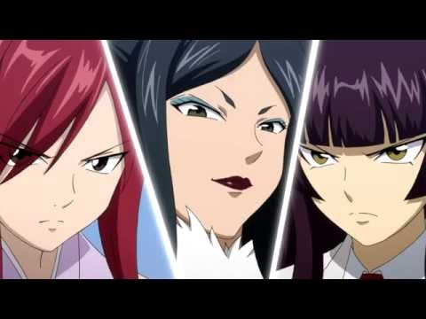 Erza vs Kagura vs Minerva English Dub HD