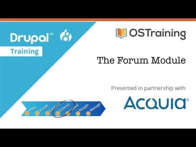 Drupal 8 Beginner, Lesson 45: The Forum Module